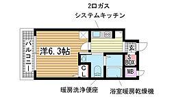 エステムプラザ神戸三宮ルクシア[303号室]の間取り