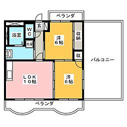 モンフレール[4階]の間取り