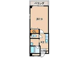 アパートメントMS[201号室]の間取り