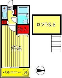 柏ガーデンフォレスト[2階]の間取り