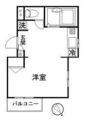 LYNX赤塚新町[402号室]の間取り