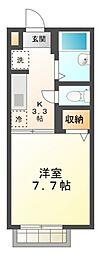 シャーメゾン マリ[1階]の間取り