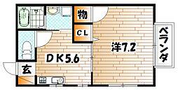 ドゥソレイユ21 A棟[2階]の間取り