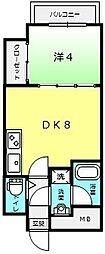 ラシーヌ宿院[7階]の間取り