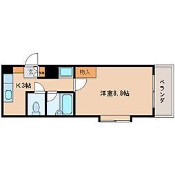 静岡県静岡市葵区三番町の賃貸マンションの間取り