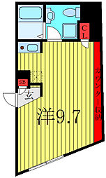 THE RESIDENCE tosima-chihaya 1階ワンルームの間取り