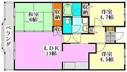 ブランシェ塚田[415号室]の間取り