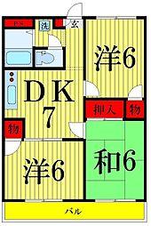 東京都足立区青井6丁目の賃貸マンションの間取り