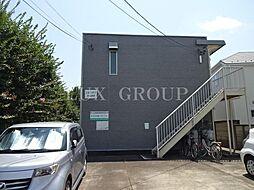 東京都昭島市上川原町1丁目の賃貸アパートの外観