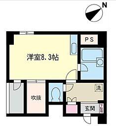 門倉第2湘南台ビル[4階]の間取り