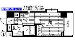 東京都文京区本郷3丁目の賃貸マンションの間取り