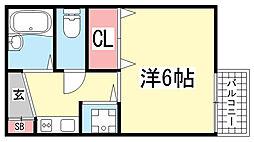 藤井ハイツ[103号室]の間取り