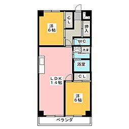 クレール小田井[2階]の間取り