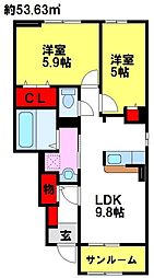リンデンハウスI[1階]の間取り
