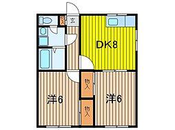 テラス横木[1階]の間取り