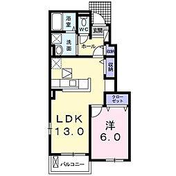 フィオ−レNS IV−D[0103号室]の間取り