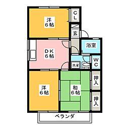 銀杏館 東[2階]の間取り