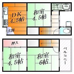 [一戸建] 大阪府摂津市千里丘東5丁目 の賃貸【/】の間取り