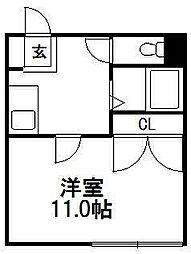 第2澄川銀座パレス[106号室]の間取り
