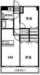 アンシャンテ2[205号室]の間取り