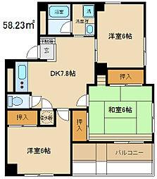 早稲田マンション[410号室]の間取り