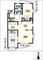 ゴテン・メイ[2階]の間取り