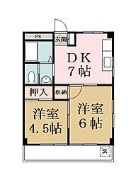 マンション新明[301号室]の間取り
