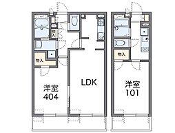 東京都大田区東糀谷4丁目の賃貸マンションの間取り