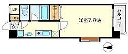 シャインビュー新大阪 4階1Kの間取り