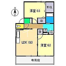 ソフィア横町 D棟[1階]の間取り
