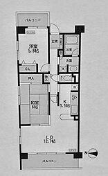 CASSIA横濱ガーデン山[301号室]の間取り