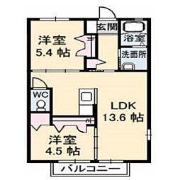 ボナールメゾン 桜[103号室]の間取り