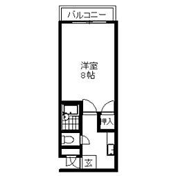 ピアブランシェ高沢[203号室]の間取り