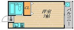 モデラート千林[305号室]の間取り