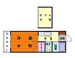 シティハウス名子[2階]の間取り