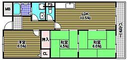 ドミール仲谷1号館[2階]の間取り