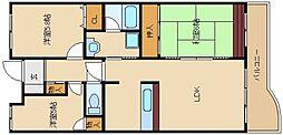 ハイネスピヴァット[3階]の間取り