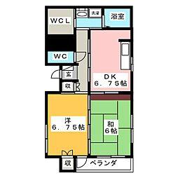 スプリングマンション柳町[3階]の間取り
