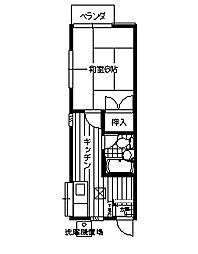 神奈川県横須賀市不入斗町4丁目の賃貸アパートの間取り