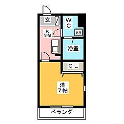 Yフラット[1階]の間取り