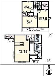 [一戸建] 三重県桑名市西矢田町 の賃貸【/】の間取り