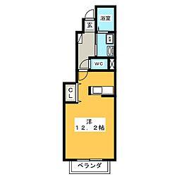 セントレア A[1階]の間取り