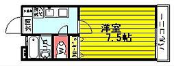 レジデンスセンジュ[2階]の間取り