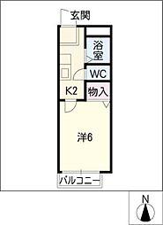 サンライフ野並[2階]の間取り
