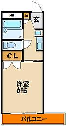 ラコンテ西明石[2階]の間取り