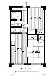 東京都練馬区中村の賃貸マンションの間取り