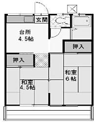 豊荘[2階]の間取り