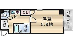 大阪府大阪市西区新町1丁目の賃貸マンションの間取り