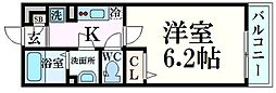 JR東海道・山陽本線 摂津本山駅 徒歩8分の賃貸マンション 1階1Kの間取り