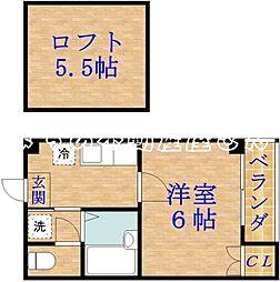 エヌズコートII[3階]の間取り